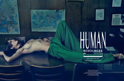 DANSK Spring-Summer 2013 issue HUMAN RESOURCES Nadja Bender wears Gucci SS2013 trousers and sandals. Photography Michael Schwartz. Fashion editor David Gómez-Villamediana. Make up Carolina Dali for Chanel Cosmetics. Hair Roberto Di Cuia.
