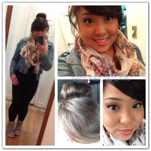 #ootd #forever21 #mandees #skechers #fotd #fashion #sockbun 😊
