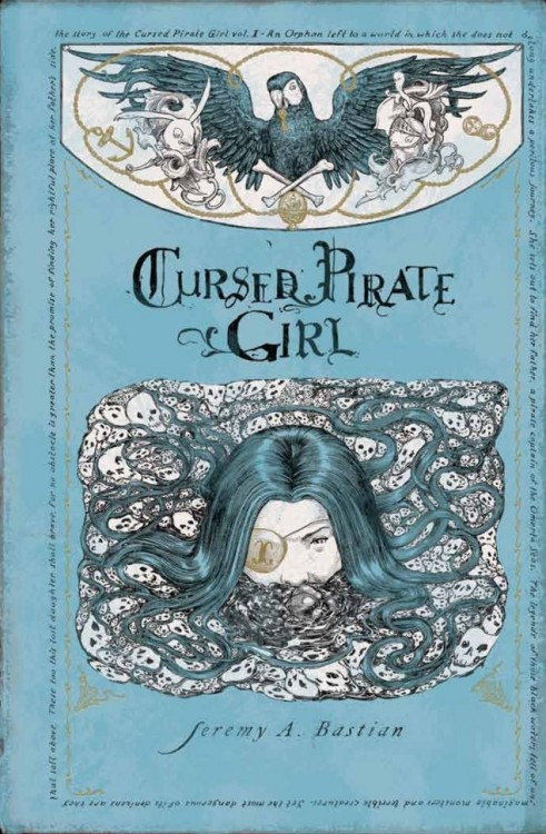 Want to win a copy of CURSED PIRATE GIRL!? Well now's your chance, 'Geek Watch' is giving away a copy of Jeremy A. Bastian's beautifully intricate Archaia hardcover book, CURSED PIRATE GIRL! You have until March 15th to enter, so be quick about it!  If you can't wait and need to get it right now then come on over to the Archaia store to place an order, or check out your local comic shop or wherever books are sold.
