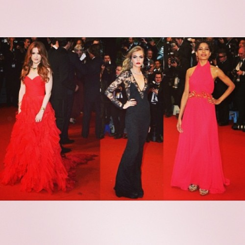 Cannes Fashion: Bold and Beautiful. Who's your best dressed #cannes #cannesfashion #fashion #style #redcarpet #instagood #inspiring #love #cara #caradelevingne #isla #islafisher #fridapinto