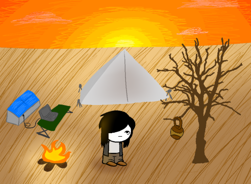 we-are-homeward-bound:  A man stands in front of a campfire staring into an empty desert. Today is December 20th, and even thought it was only 19 years ago this man was given life, only today he will be receiving a name. What shall be this man's name?