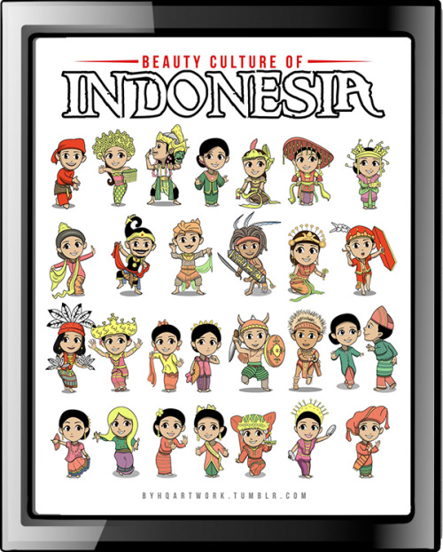 Beauty Culture of INDONESIA (available in vector format) bayhaqiebyhq@yahoo.co.id