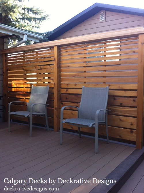 decks and fences deck railing ideas for cedar privacy screens