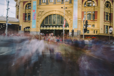 Rush Hour - Griffin Simm | Flinders Street Station - Melbourne | 2013