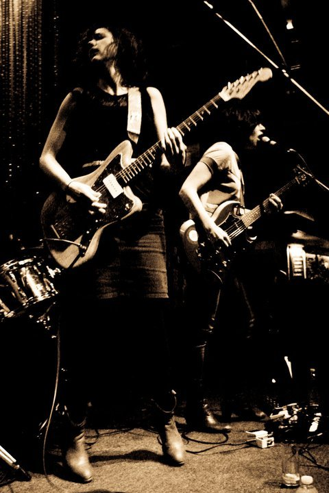 dyannecano:  Mary Timony, Carrie Brownstein, Wild Flag, March 2011. (Photo: Dyanne Cano)