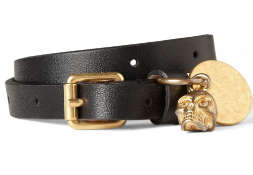 ALEXANDER MCQUEEN WRAP-AROUND LEATHER BRACELET