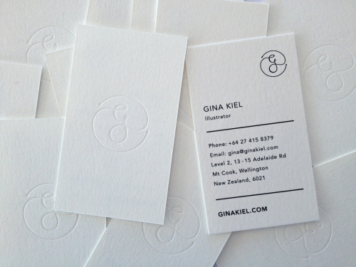 New white on white gloss foil de-boss business cards! thanks to Inject design.