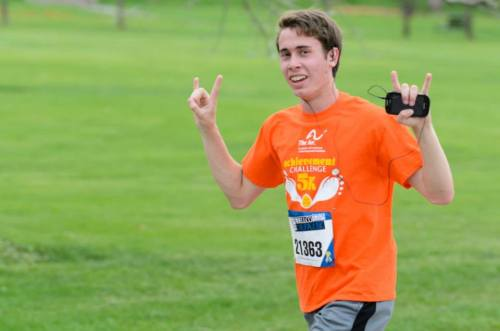 On Saturday, May 18, during the Colfax Marathon's 5K, more than 50 people came out to support The Arc – Jefferson, Clear Creek & Gilpin Counties' inaugural Achievement Challenge. With nearly 2,500 people in attendance, our group was a wave of bright orange throughout the event, raising awareness of The Arc and the abilities of people with intellectual and developmental disabilities. The largest single team in the Achievement Challenge was Amy's Walk, led by board members Theresa Gonzales and her son Aaron Gonzales, who came out to celebrate the memory of their beloved daughter and sister, Amy, who passed away last month. To see all the pictures of the event, visit our facebook page or click here to view the entire album.  From Genni Williams at The Arc - Jefferson, Clear Creek & Gilpin Counties.