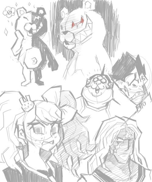 I started reading the Dangan Ronpa LP recently! Here are some doodles~