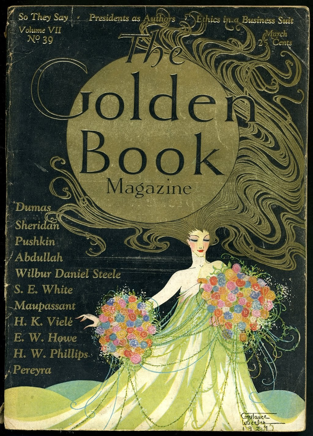 The Golden Book 1928 Illustration by Constance Wheeler