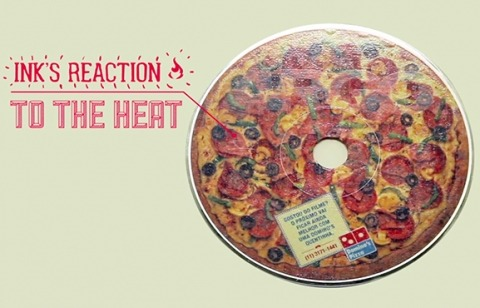 Dominos makes your DVD smell like pizza. Literally. In a brilliant move, Dominos has taken DVDs of your favorite movies, and printed them with a special ink. What makes that so special? Well, when the DVD heats up as it plays, the ink turns your normal DVD into a mini pizza, and the smell is included. You can't eat it, but you can call Dominos.  Agency: Artplan, Sao Paulo