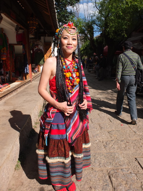 We saw many dress up with a tribal flavour at Lijiang, Yunnan, China