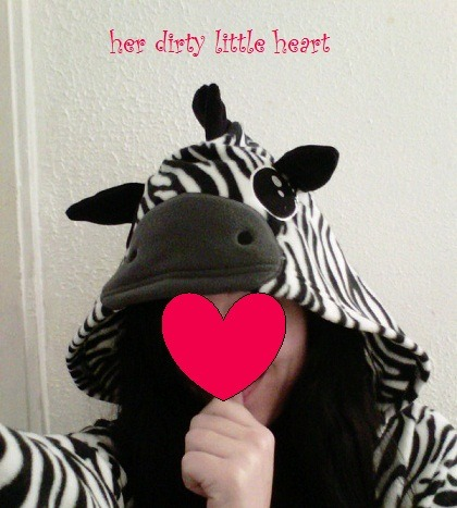 So I got a zebra onesie with ears for Christmas. This filled my Little heart with joy. It's the warmest fuzziest pj's ever and I want to live in it and be a baby zebra forever. That is all.
