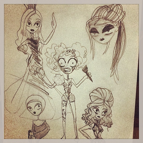 I have some new sketches of @LadyGaga #bitch #sketches #ladygaga #art #fanart