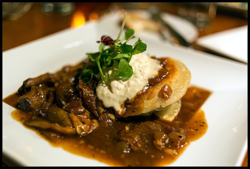 Oxtail Pierogies on Flickr.Oxtail Pierogies from Washington Place Bistro.