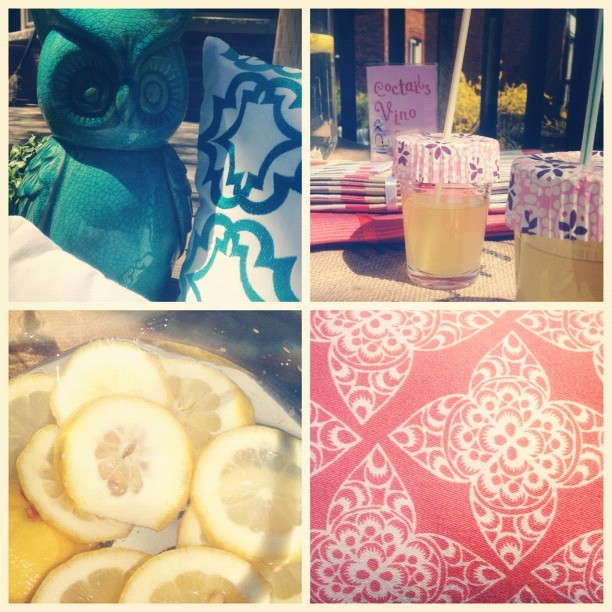 Summer photo shoot fun. I spy @urbanbarn & @thetypennington fabric 😊 #photoshoot #setlife #summer #stylist #style #decor #owl #lemonaide #lemon #love #happiness