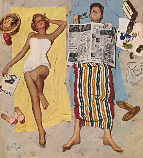 Kurt Ard illustration, Saturday Evening Post cover, August 16, 1958.