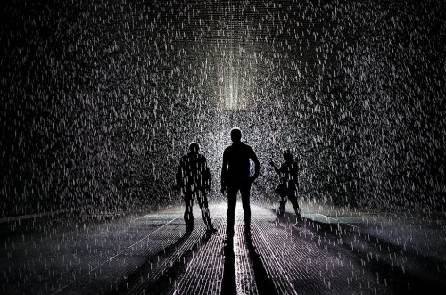 'The Rain Room' at the MOMA by Joe Holmes.