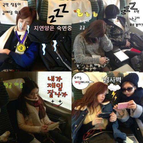T-ara rides the Shinkansen (Bullet Train) - Heading to Osaka [27122012]