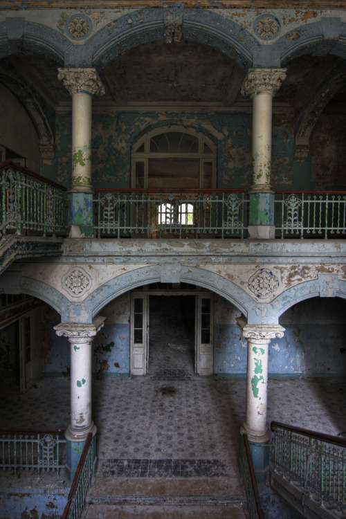 abandonedporn:  Blue arches (by Bousure)