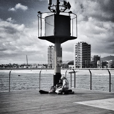 Un mar de fons #badalona (at Pont del Petroli)