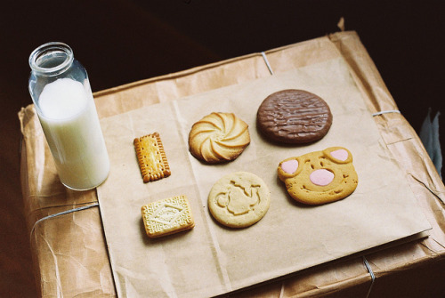 tiptoethroughthesky:  Milk & Cookies. by theseyoungarchies on Flickr.