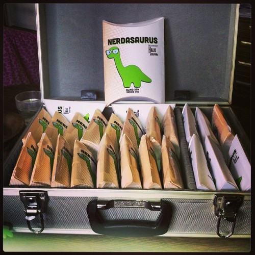 #nerdasaurus are packed and ready to go! Get yours this weekend at #dallascomiccon!