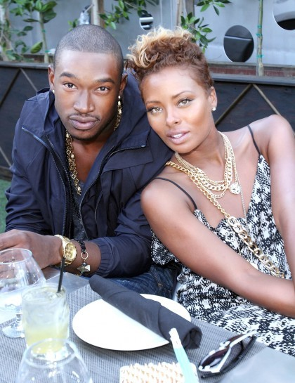 Eva Marcille and Kevin McCall attend BET's Real Husbands of Hollywood Wrap Dinner at Xen Lounge   Photo Credit: Maury Phillips/Getty Images