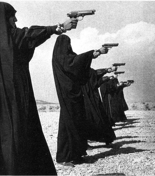 1000scientists:  The female Basij Militia, photographed at the height of the Iran-Iraq war by Jean Gaumy, 1986
