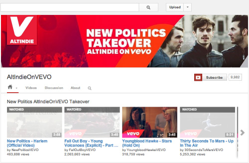 "We took over VEVO's AltIndie channel to celebrate our album coming out tomorrow! Check out this playlist we made. You can listen to ""A Bad Girl In Harlem"" in full right here and pre-order it here."