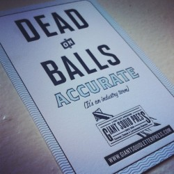 These @giantsquidpress postcards were a hit last night at the @adcglobal #PaperExpo #mycousinvinny #letterpress (at Giant Squid Press )