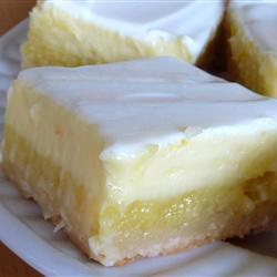 Cheesecake + lemon bars = Oh, my… Get the recipe »http://bit.ly/162ZFlRWho else needs one?—Like, now?