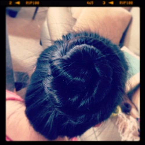 My hair!!! #ballerinabun #pretty #alittlemessy #twisted