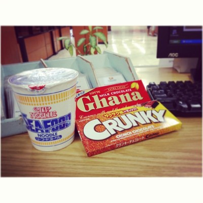 My buddy today! Hihi 😊😉 #chocolate #ghana #crunky  (at Davao Light and Power Company)