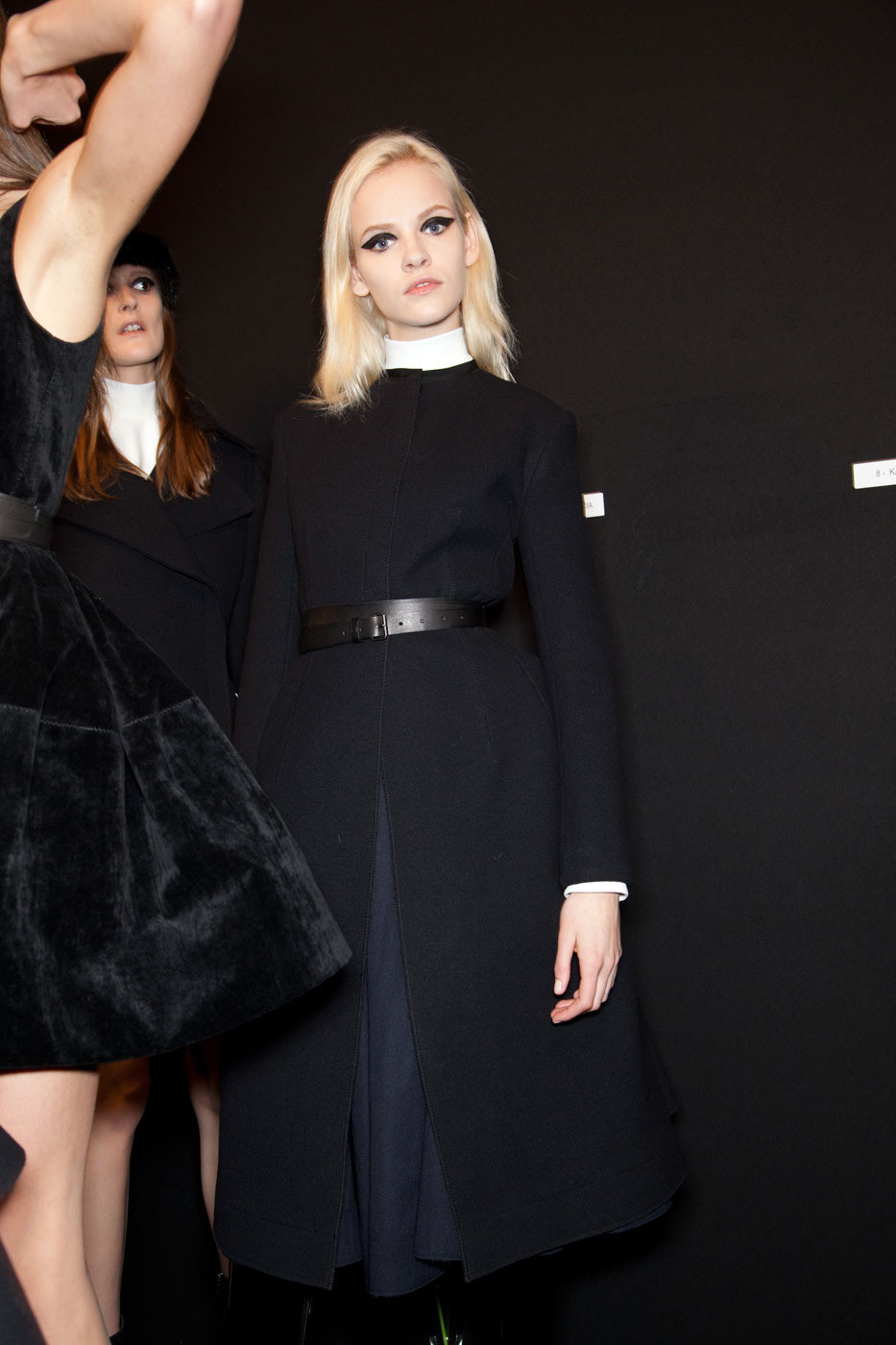 runway-modele:  Ginta Lapina at Lanvin Backstage