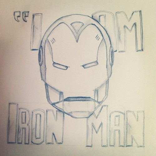 "Feb.19: ""I am…"" #Ironman  Inspired by #Ozzy and #Marvel   #doodleadayfeb #fmsphotoaday #drawing #sketching #illustration #type #typography #design #comics #Iam"