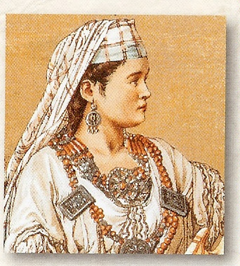 "thepeacefulterrorist:  North Africa - Dahia Al-Kahina - Jewish Warrior Queen After the Fall of the 1st Temple many Jews went to what we now call North Africa - Morocco, Algeria, Tunisia primarily. The indiginous peoples there were called Berbers and most converted to Judaism. In the 7th Century - the Arab conquest was taking place and their most inspirational leader not only a Woman, but a Jew. Born as Dahia - Biblical name of Deborah - she was given the name by her Arab enemies of ""Al Kahina"" (of the Cohen tribe). The nomadic Jews had settled in the Aures mountains and it was the Jerawa woman named Dahia who fought and slew the enemy in 683 CE. 15 years later she was once again attcked by Egyptians - won again - and then recaptured Carthage (now in Tunisia) and ruled in triumph. However, she was overwhelmed in 702 CE by Arab armies who had retaken most of the Maghreb - North Africa. She convinced her 3 sons to convert to avoid death by the Arab General Hassan. She herself continued to battle them and was killed or executed that evening. Her sons were the first Jews to land with the Moslems on Gibralter and Spain."