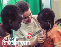 doctorswithoutborders:  Photo: MSF doctor Claire Marie Loys introduces a young patient to his heartbeat in Aweil, South Sudan. Photo by Yann Libessart/MSF Dr. Loys and her team provide maternal and child health at the Aweil referral hospital; over the last year more than 4,700 children have received treatment there.