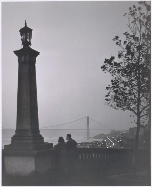 Riverside Park Near 153rd Street,1944 photo by André Kertész