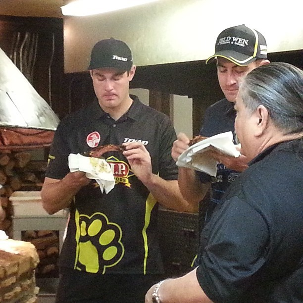 Scott got to feed some of the Australian V8 Supercars crew today. See them race in Austin this weekend.