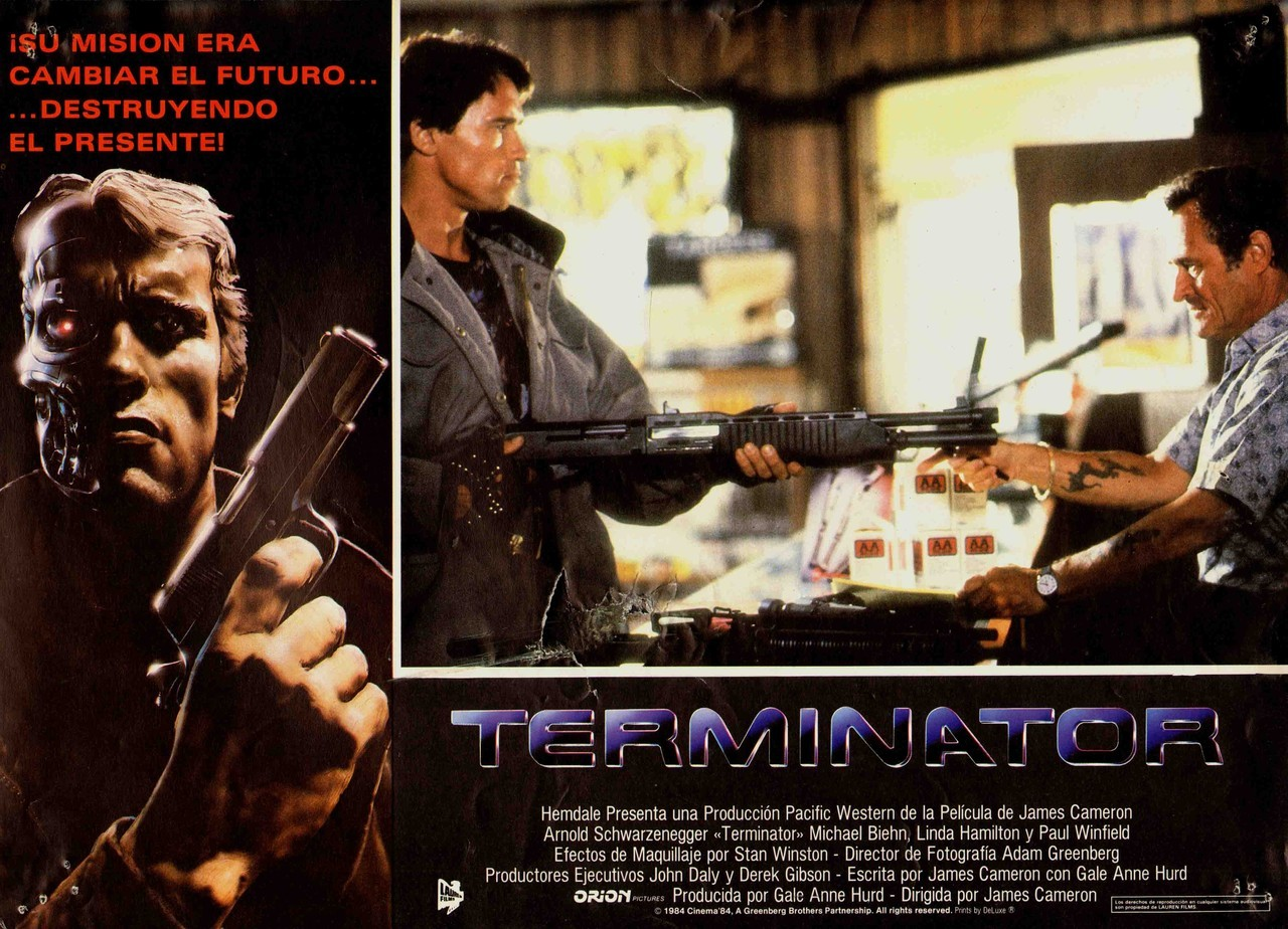 The Terminator, Spanish lobby card. 1984 Submitted by videorecord