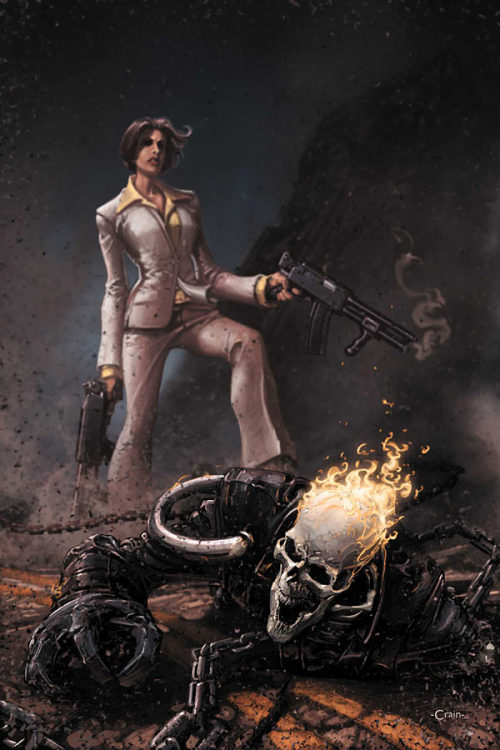 Clayton Crain Ghost Rider cover art