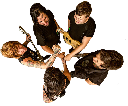 alexandralydia:  Transparent of mice & men gettin pumped for rock & roll