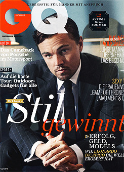 gthegentleman:   Leo covers GQ Germany, June 2013  Leo