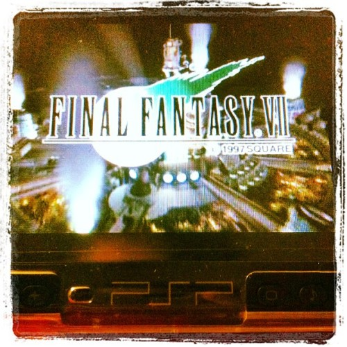 Omg omg omg omg here it is again #ff7 #psp #nostalgiasaturday