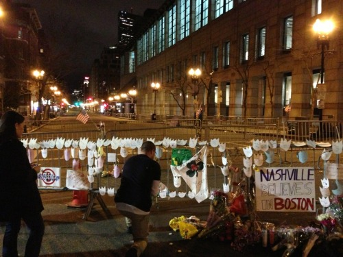 Boston. The memorial and a still empty street