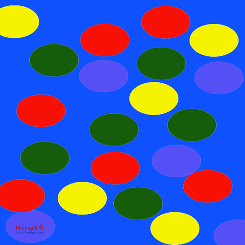 """Color Dots 2"" by Michaell Magrutsche www.michaellart.com"