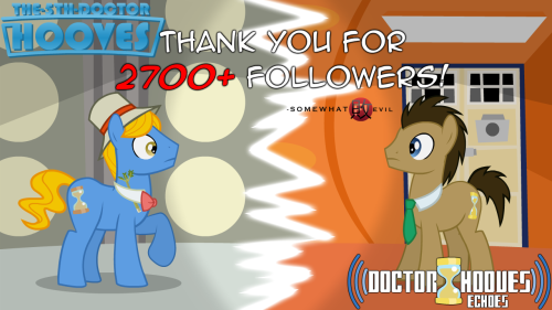doctorhooves-echoes:  Thank you all for 2,000+ Followers on Echoes and 740+ followers on Fivey!Yes, it's a double special, shut up. I'm not lazy.