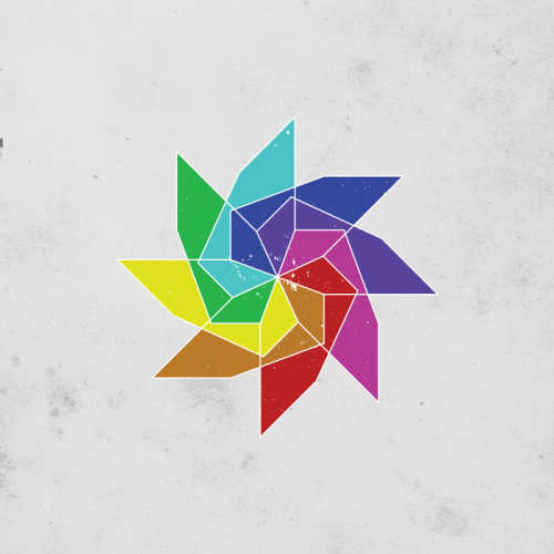 dailygeometry:     #003 Windy Rainbow. A new minimal style design posted daily.     Help my new design project get up and running!!!