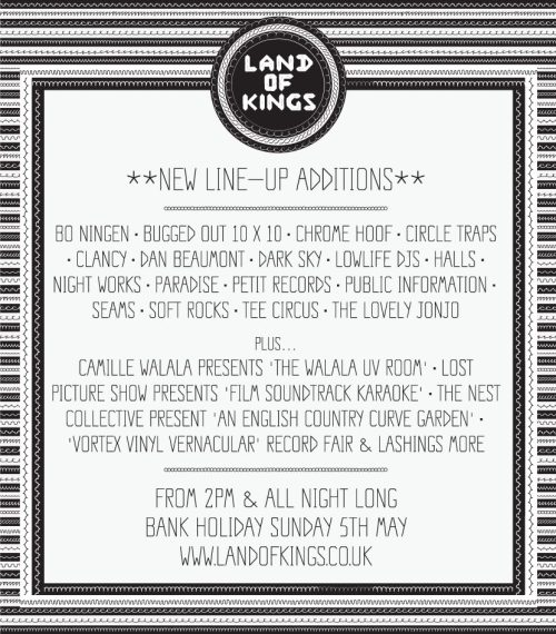 Petit is privileged to be playing at the excellent Land of Kings festival on 5-May…